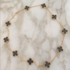 """❤️ Just In! Onyx clover 18"""" Celebrity necklace"""